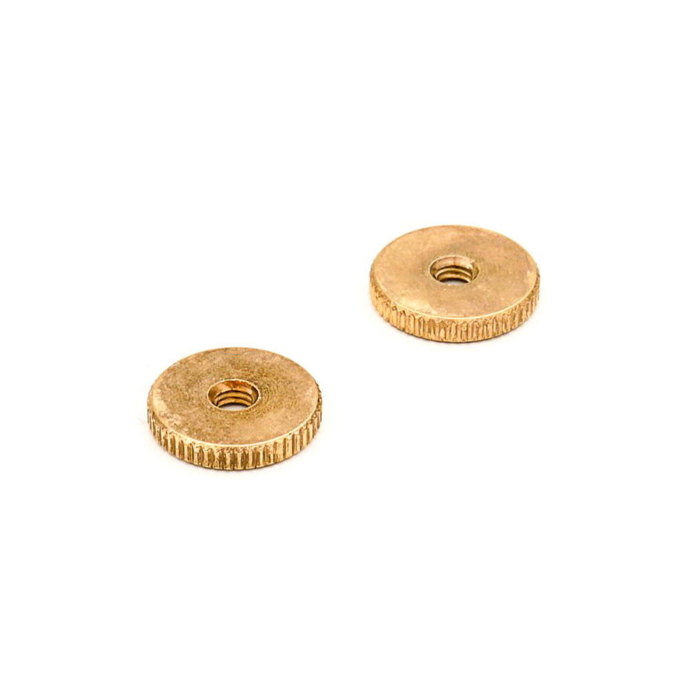 Faber ABR-1 Style Tune-o-matic Thumbwheels Set of 2 (Aged/Relic Gold, Imperial (inch))