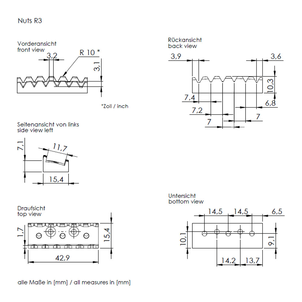 Schaller Floyd Rose Double Locking Tremolo (R2 Nut, 42 mm, Chrome)