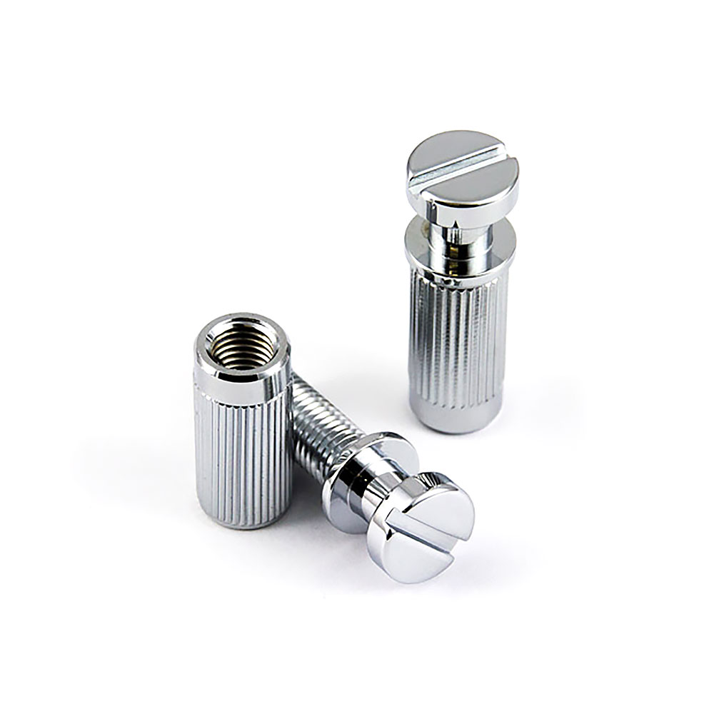 ABM Tailpiece Studs/Posts and Body Bushings/Anchors Set of 2 (Chrome, Metric (mm))