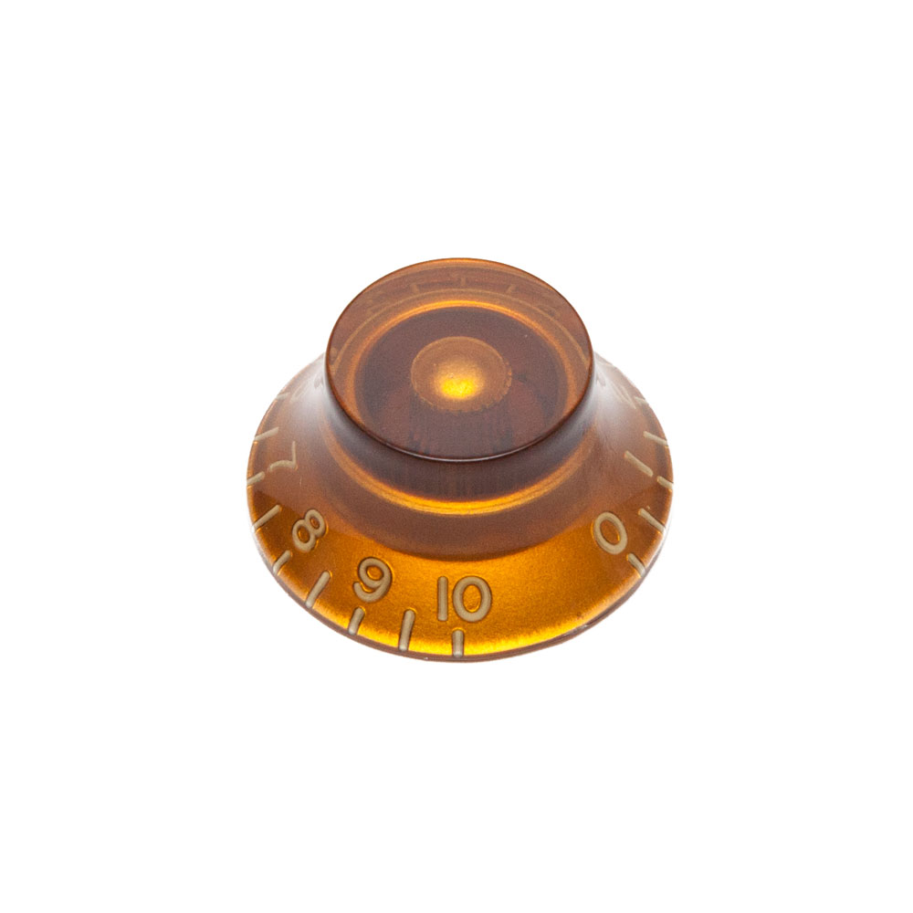 Hosco Hat Control Knob Gibson Style (Amber, Metric (mm))