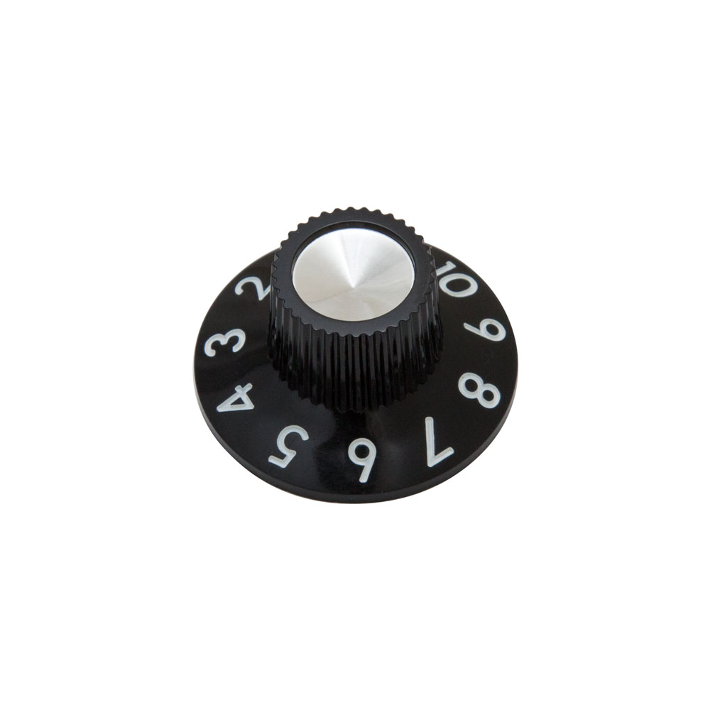 Hosco Fender Style Skirted Amp Knob with Set Screw (Black)