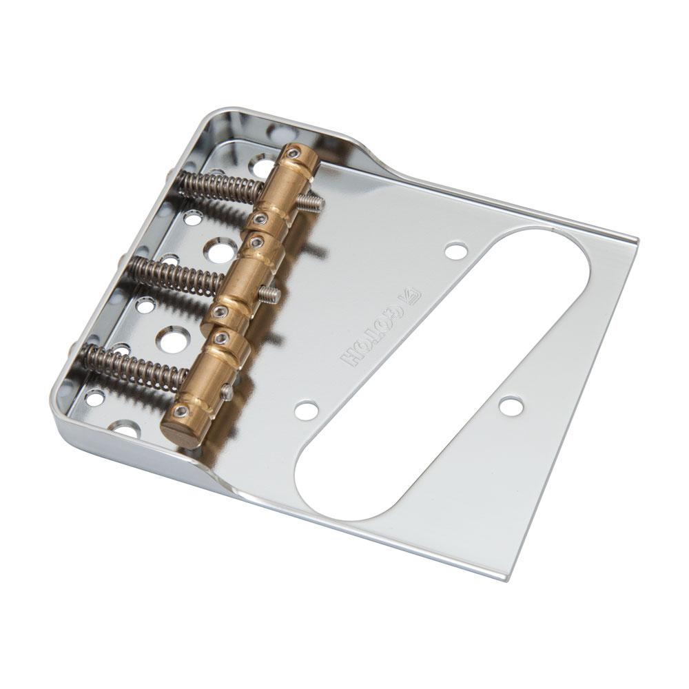 Gotoh BS-TC1S Vintage Cutaway Telecaster Bridge w/ In-Tune Saddles (Chrome)