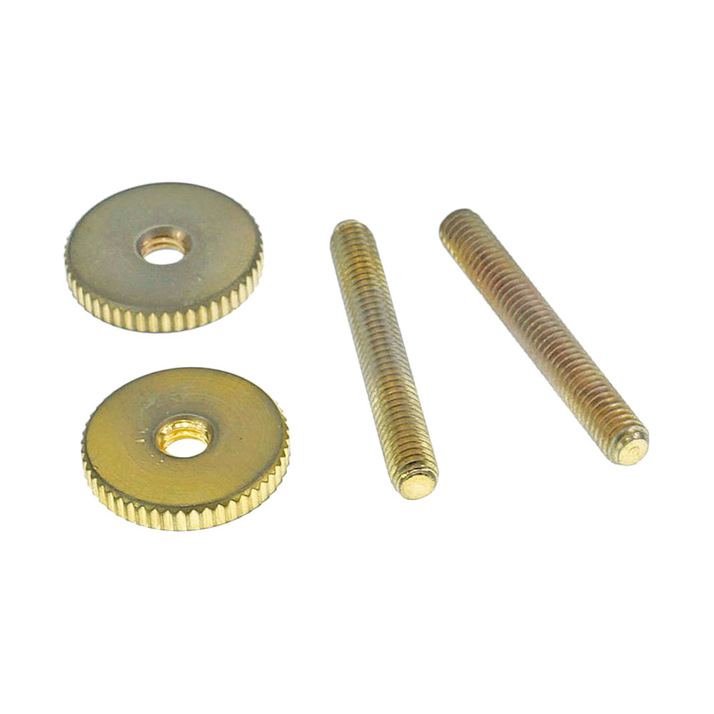 Faber Steel Tune-o-matic Posts and Thumbwheels (Aged/Relic Gold, Imperial (inch))