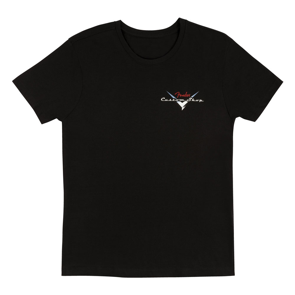 Fender Custom Shop Logo T-Shirt - 30% Off! (Black, Medium)