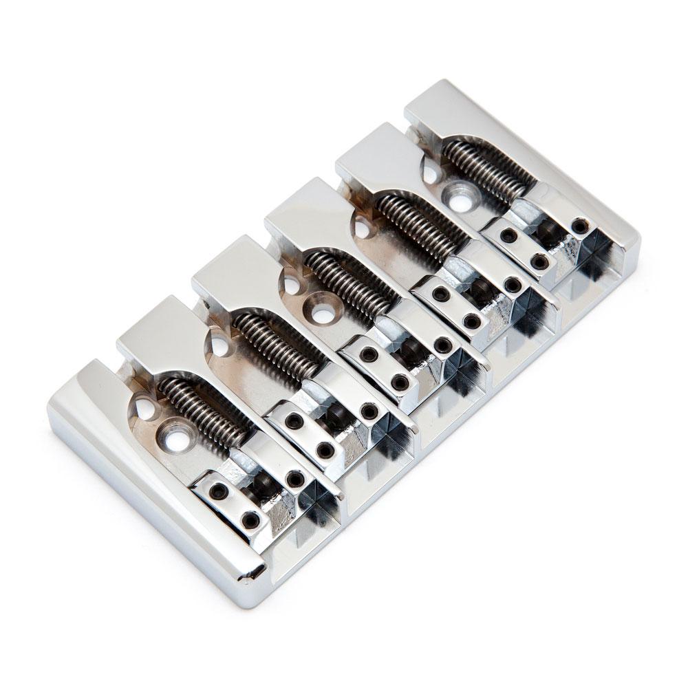 Hipshot A Style 5 String Bass Bridge .708 String Spacing (Chrome, Aluminium)