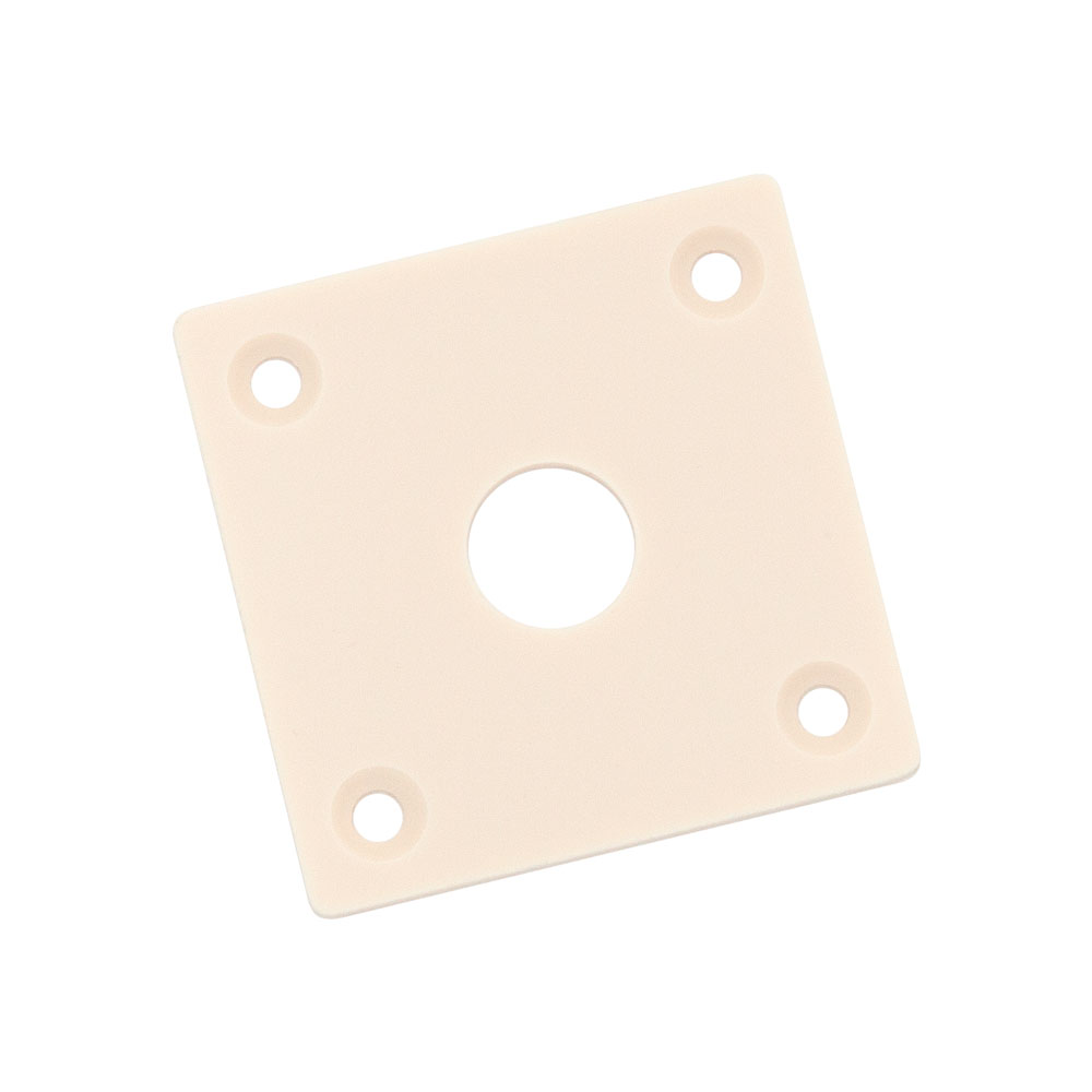 Hosco Vintage Style Les Paul Square Jack Plate (Light Cream)