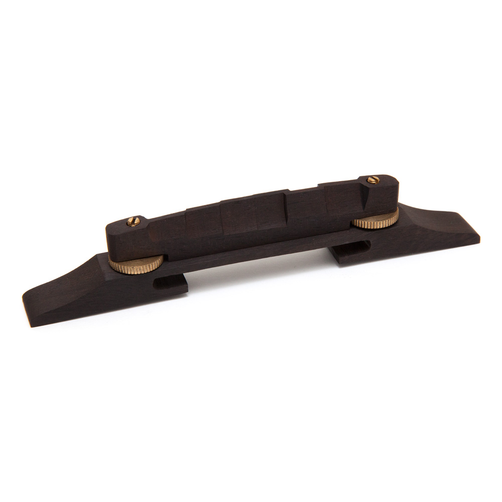 Hosco Compensated Ebony Archtop Bridge (Brass)