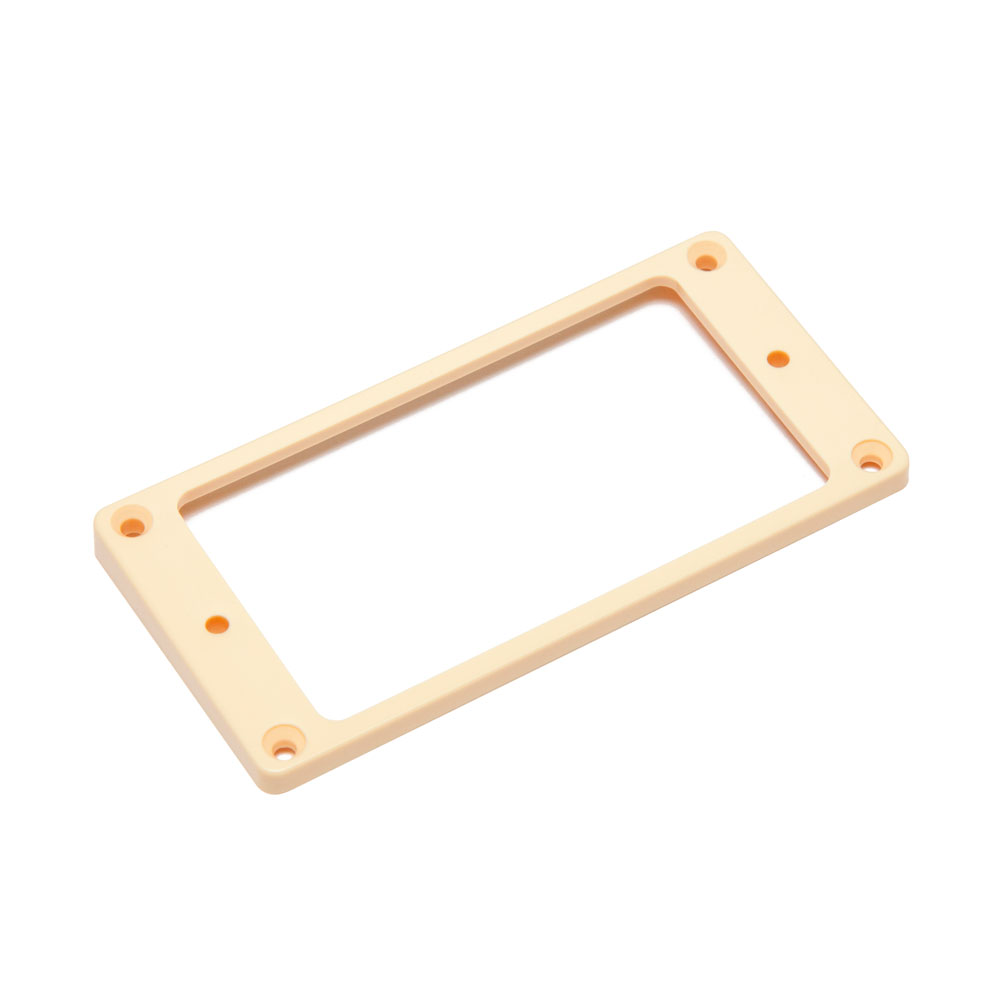Hosco Pickup Mounting Rings Curved Bottom Flat Top (Ivory, Neck)