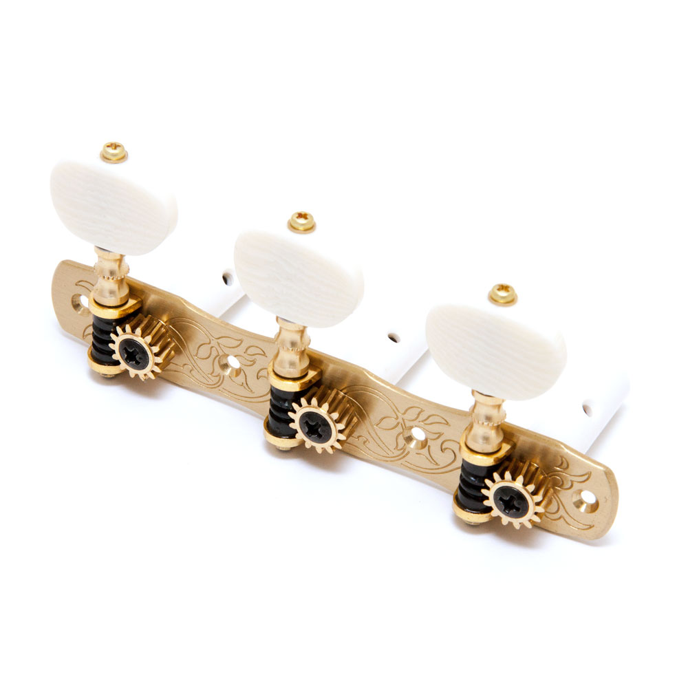 Gotoh 35G1800 Classical Tuners 3 x 3 (Solid Brass, 2M)