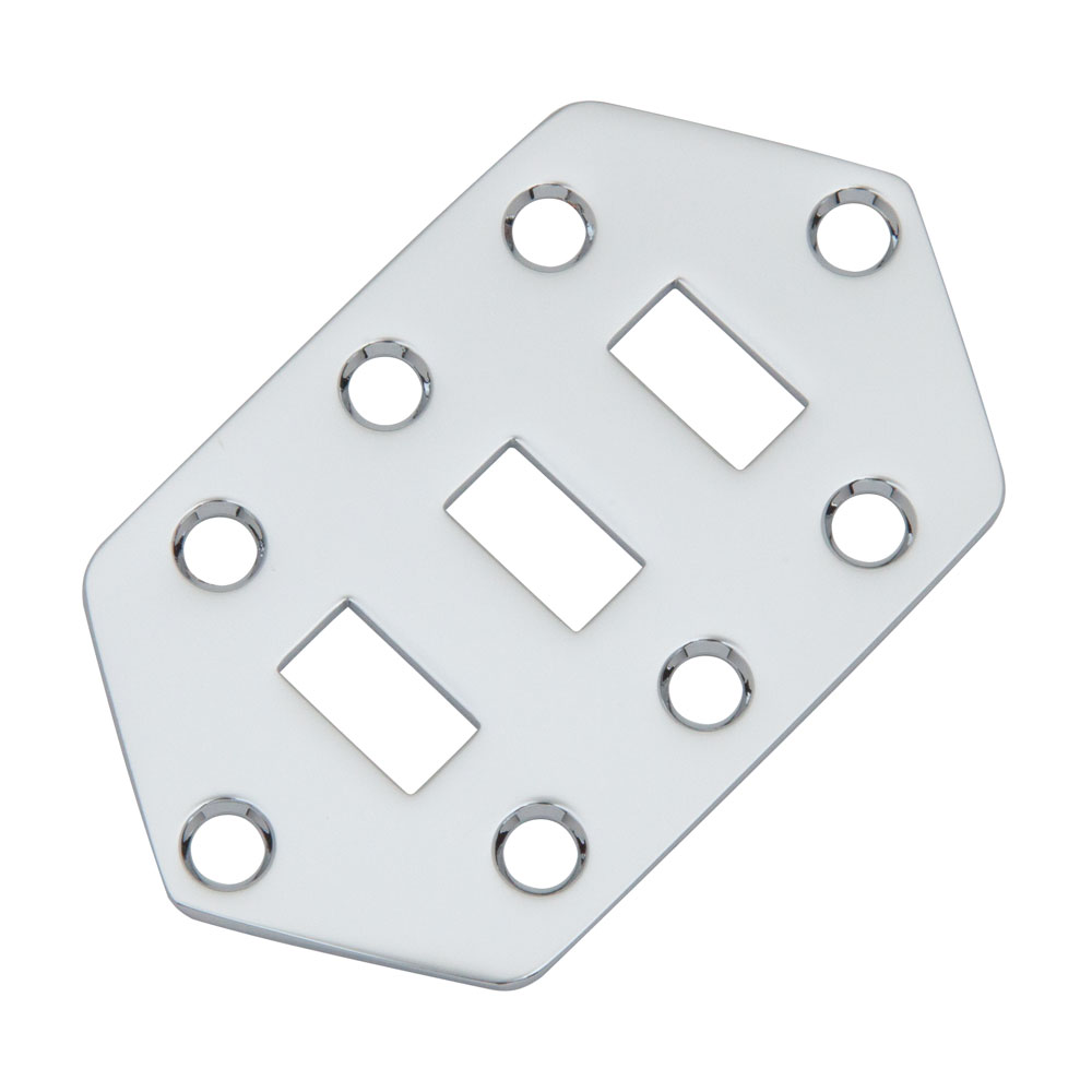 Hosco Jaguar Style Switch Control Plate (Chrome)