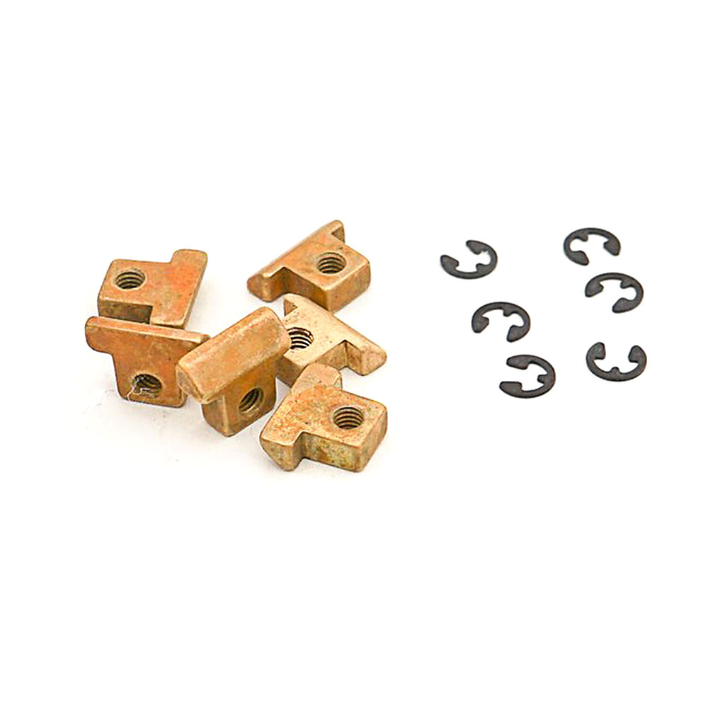 Faber Replacement ABR-1 Style Brass Tune-o-matic Saddles Set of 6 (Unplated Aged/Relic, Unnotched)