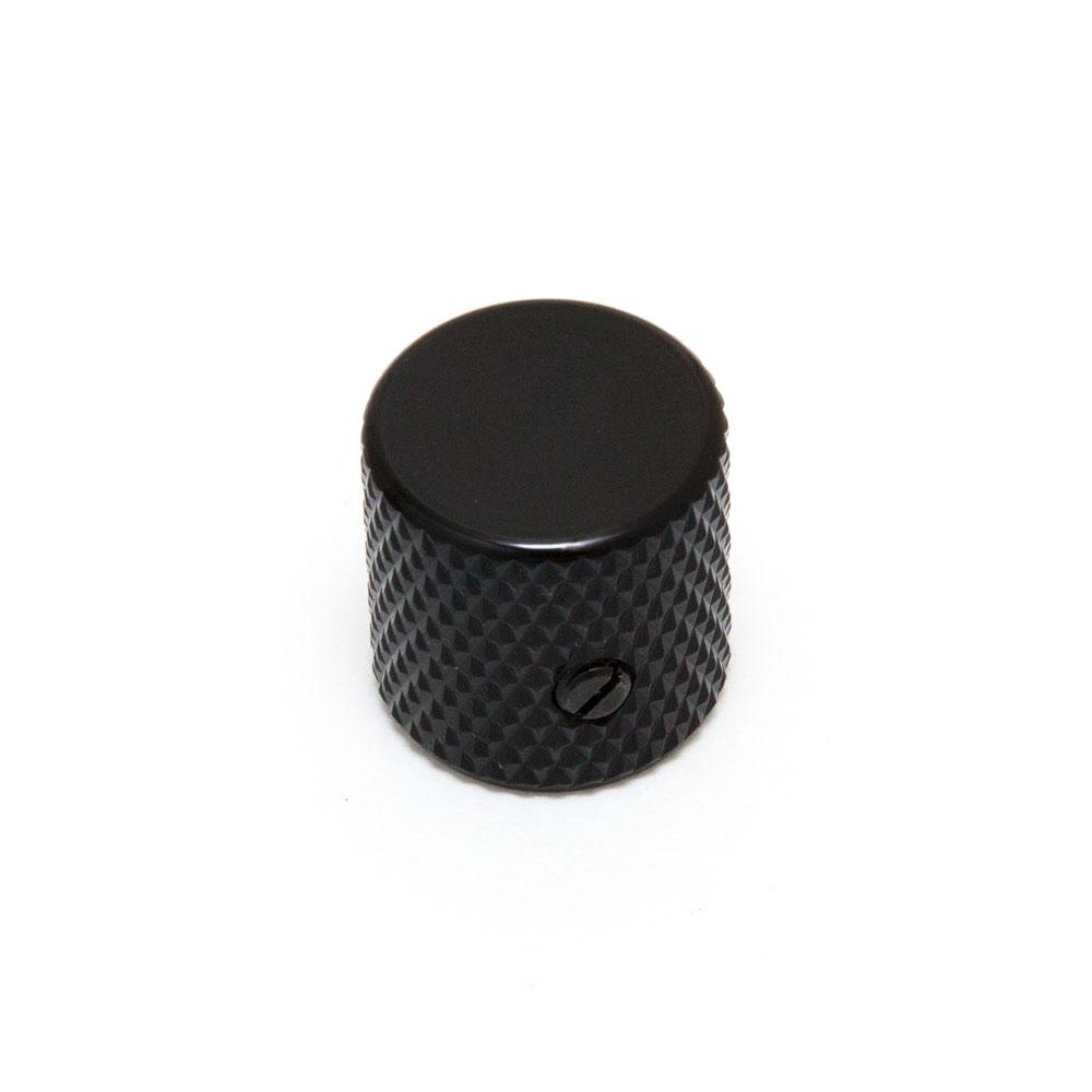 Hosco Telecaster Style Flat Top Control Knob with Set Screw (Black)