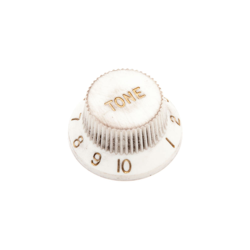 Hosco Tone Control Knob Fender Style (Aged/Relic White, Imperial (inch))