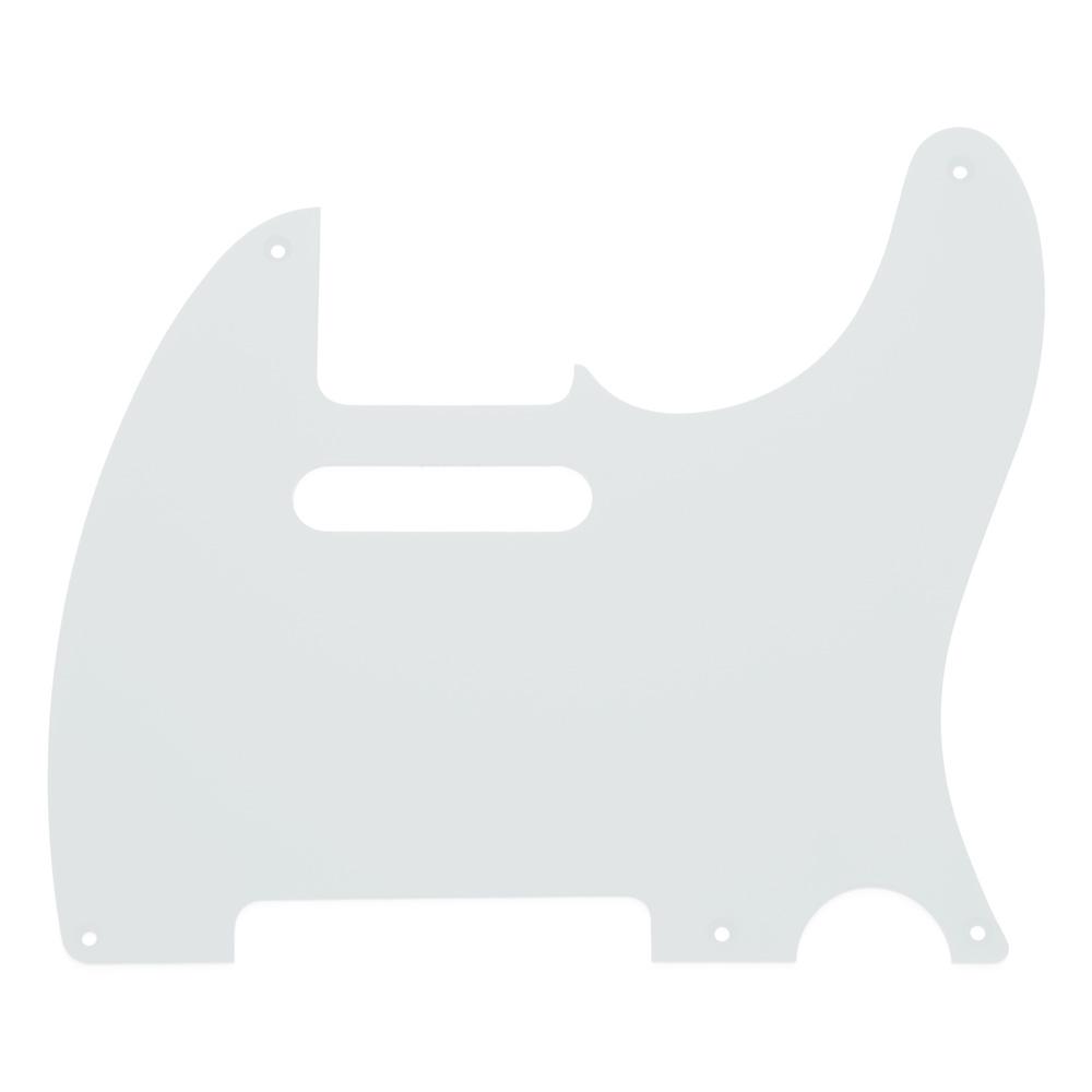 Hosco 1 Ply 5 Hole Telecaster Style Scratchplate/Pickguard (White)