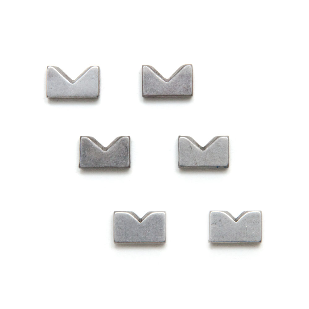 Hipshot KickAss Bass Bridge Stainless Steel Saddle Inserts Set