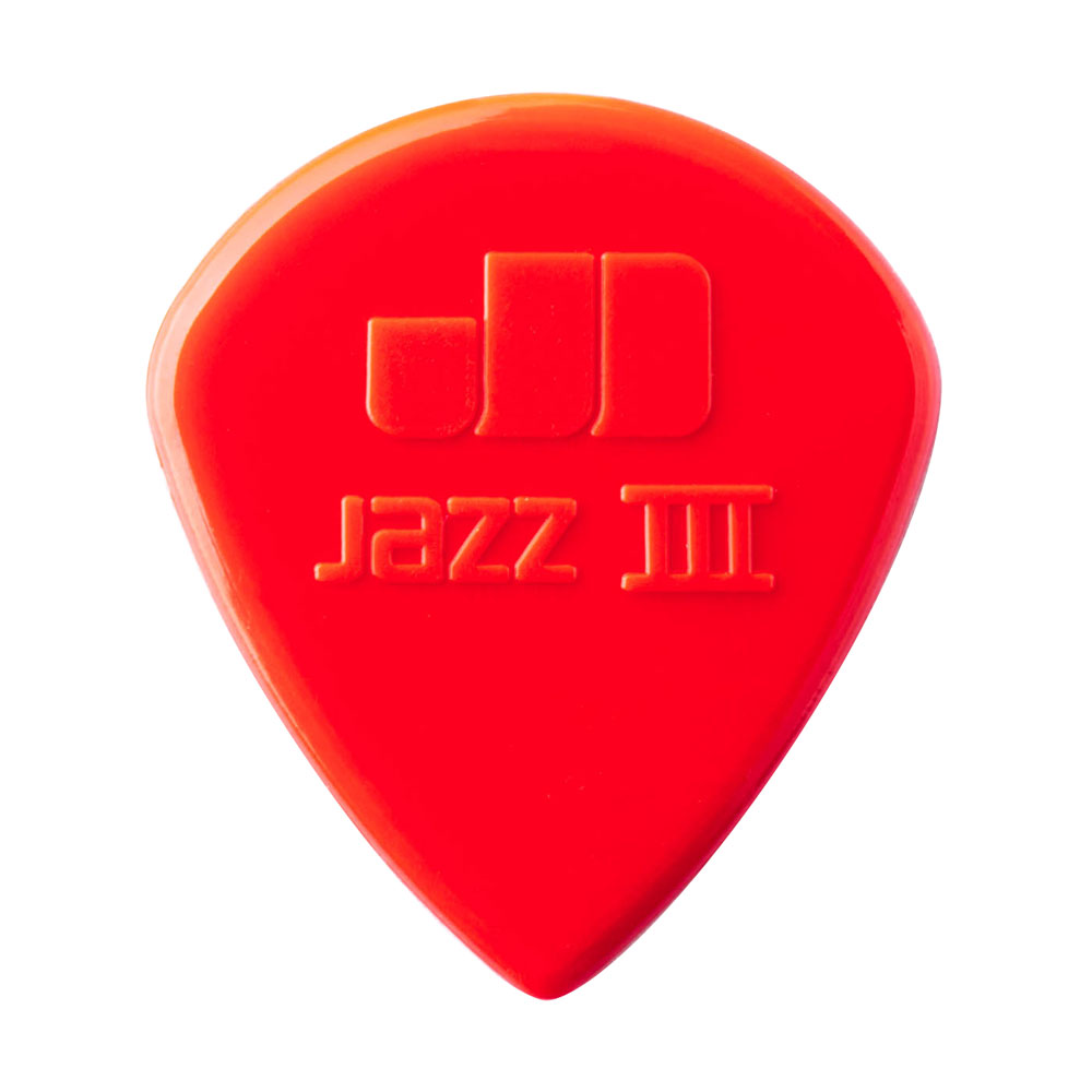 Jim Dunlop Nylon Jazz III 1.38 mm Picks (Red, Pack of 6)