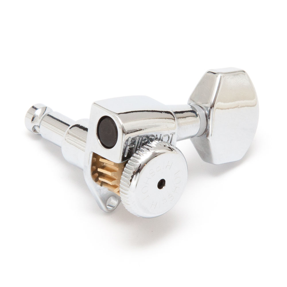 Hipshot Grip Lock Open Gear Locking Tuners 6 In-Line Right Handed (Chrome, D07)