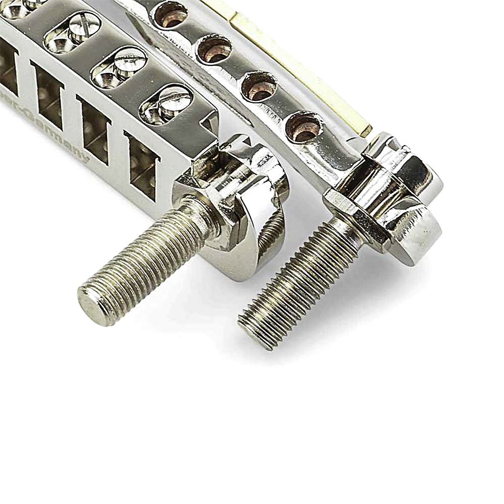 Faber Wrap-Lock Locking Wraparound Steel Tailpiece Posts (Aged/Relic Nickel, Imperial (inch))