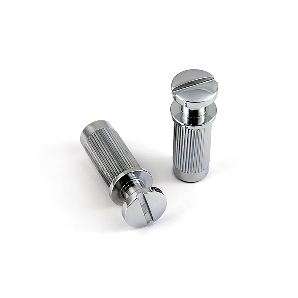 ABM PRS Style Wraparound Tailpiece Posts and Bushings Set of 2 (Chrome, Imperial (inch))