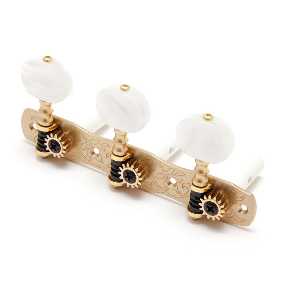 Gotoh 35G1800 Classical Tuners 3 x 3 (Solid Brass, 2W)