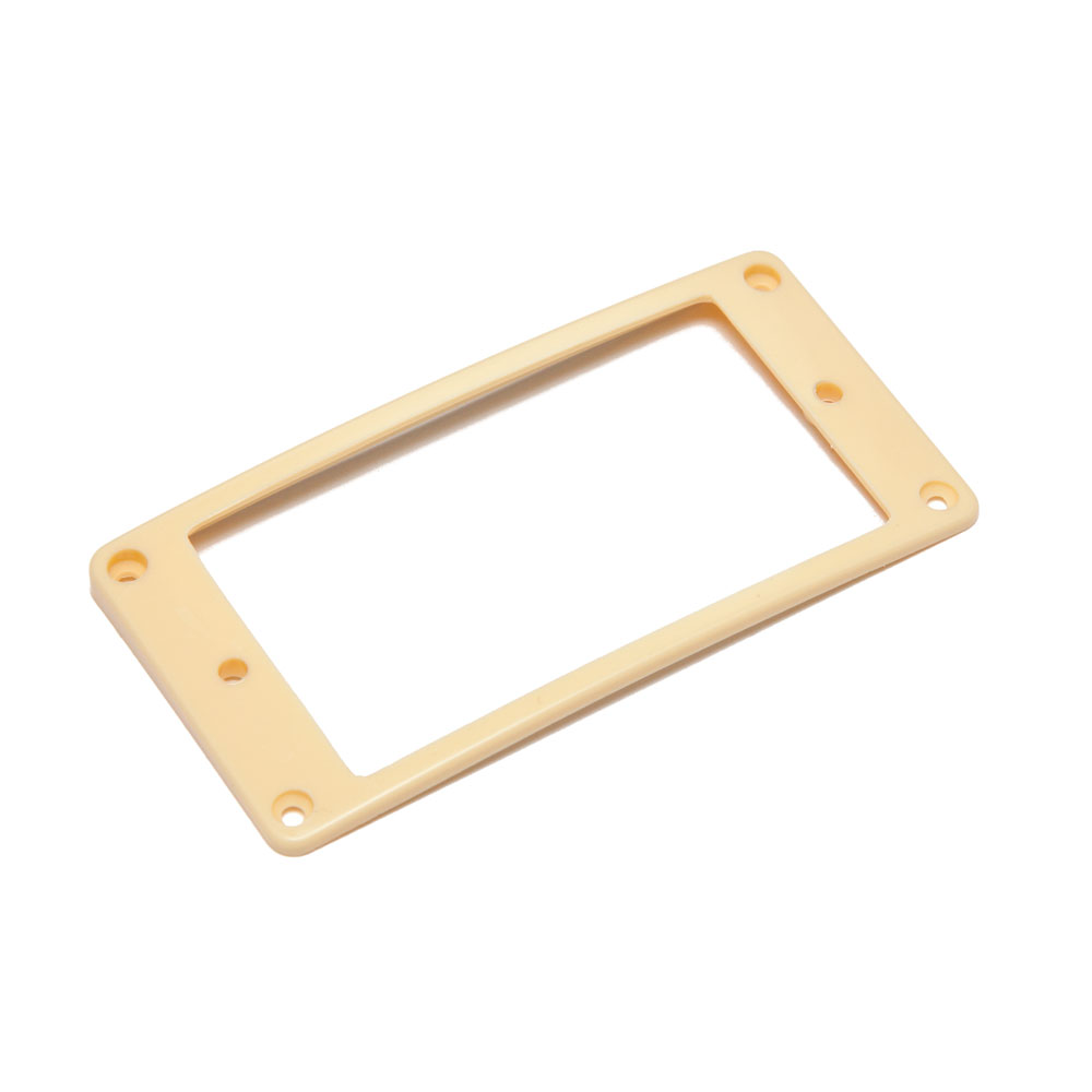 Hosco Pickup Mounting Rings Curved Top and Bottom (Ivory, Neck)