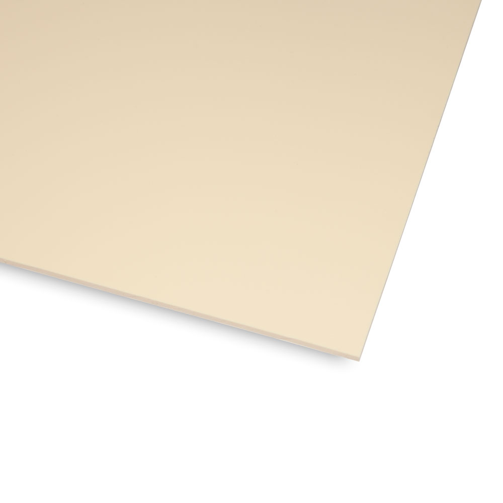 Boston Blank 1 Ply Scratchplate/Pickguard Sheet Material (Cream)