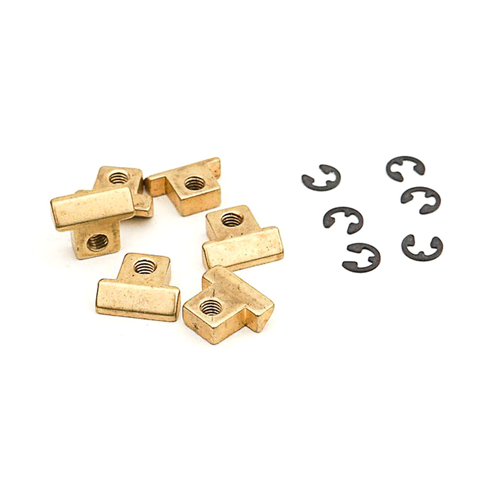 Faber Replacement ABR-1 Style Brass Tune-o-matic Saddles Set of 6 (Unplated, Unnotched)