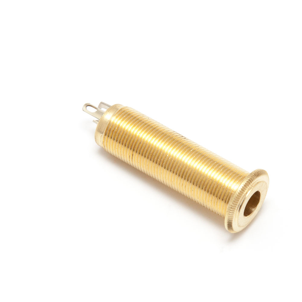"Switchcraft 1/4"" Stereo Guitar Barrel Jack Socket (Gold)"