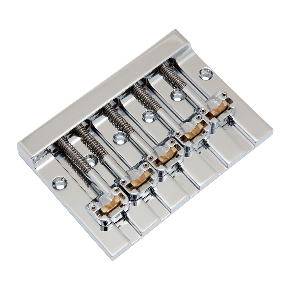 Hipshot KickAss 5 String Bass Bridge fits Squier (Chrome)