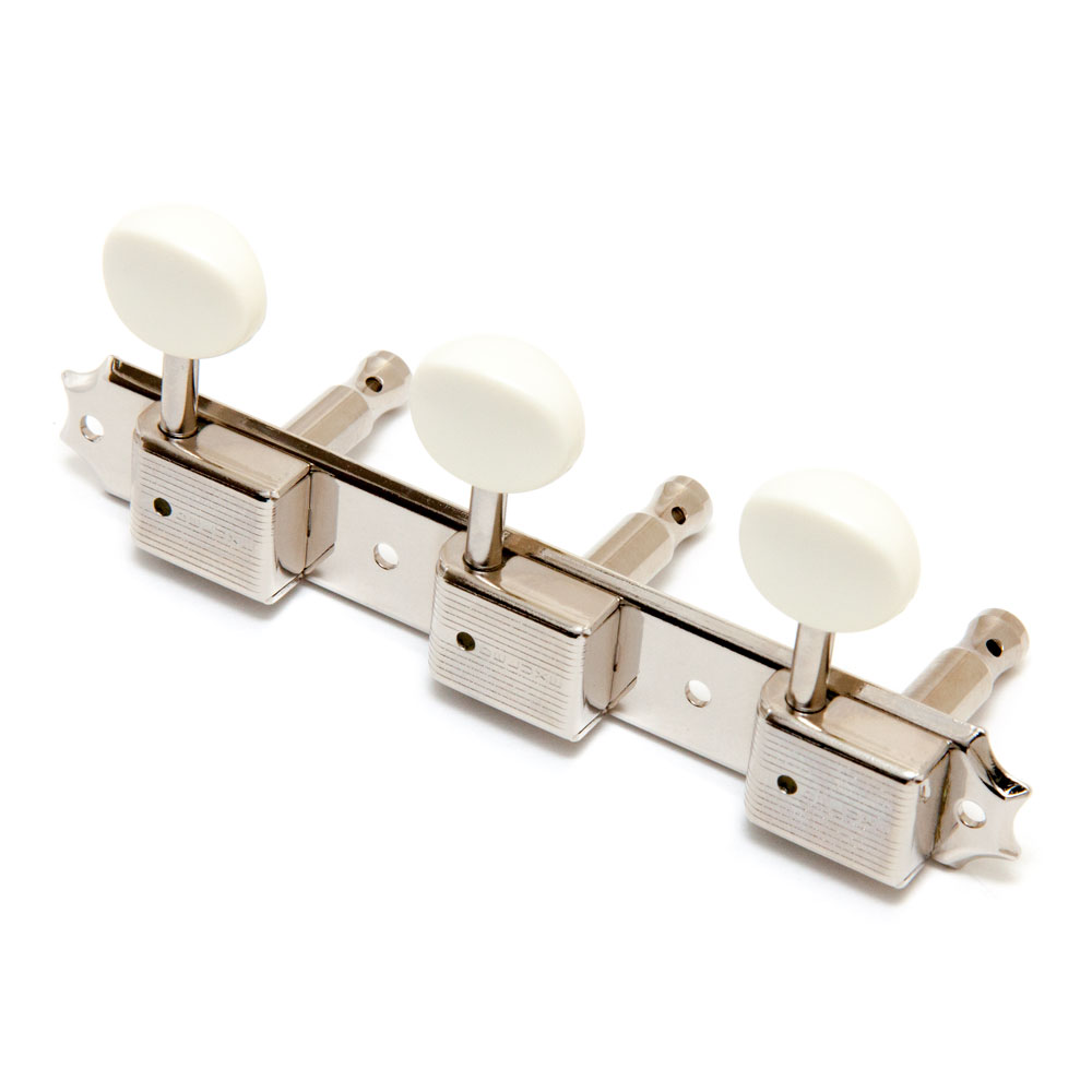 Gotoh Vintage Style 3 on a Plate Tuners (Nickel)