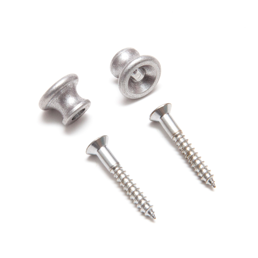 Gotoh EP-B1 Gibson Rounded Style Strap Buttons Set of 2 (Aged/Relic Aluminium)