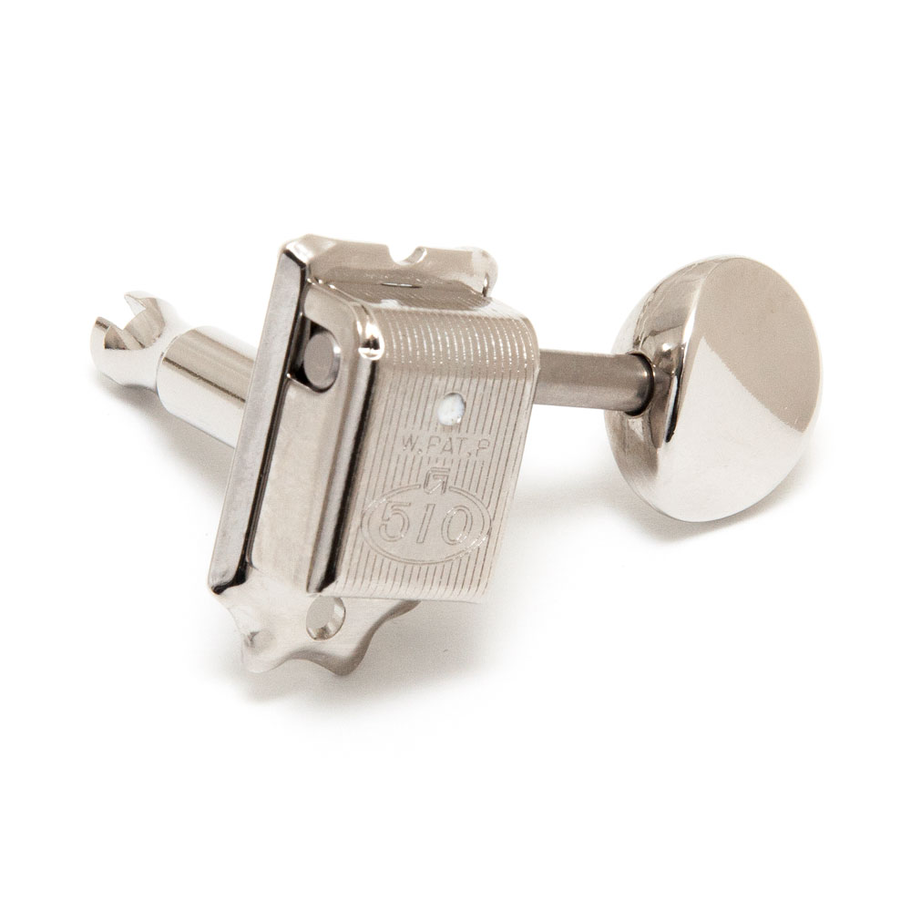 Gotoh SDS510 Tuners 6 In-Line Right Handed Kluson Style (Nickel, 05M)