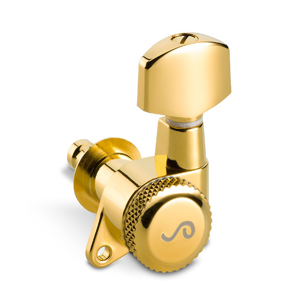 Schaller M6 Locking Tuners 6 In-Line Left Handed 135 Screw (Gold, .01)