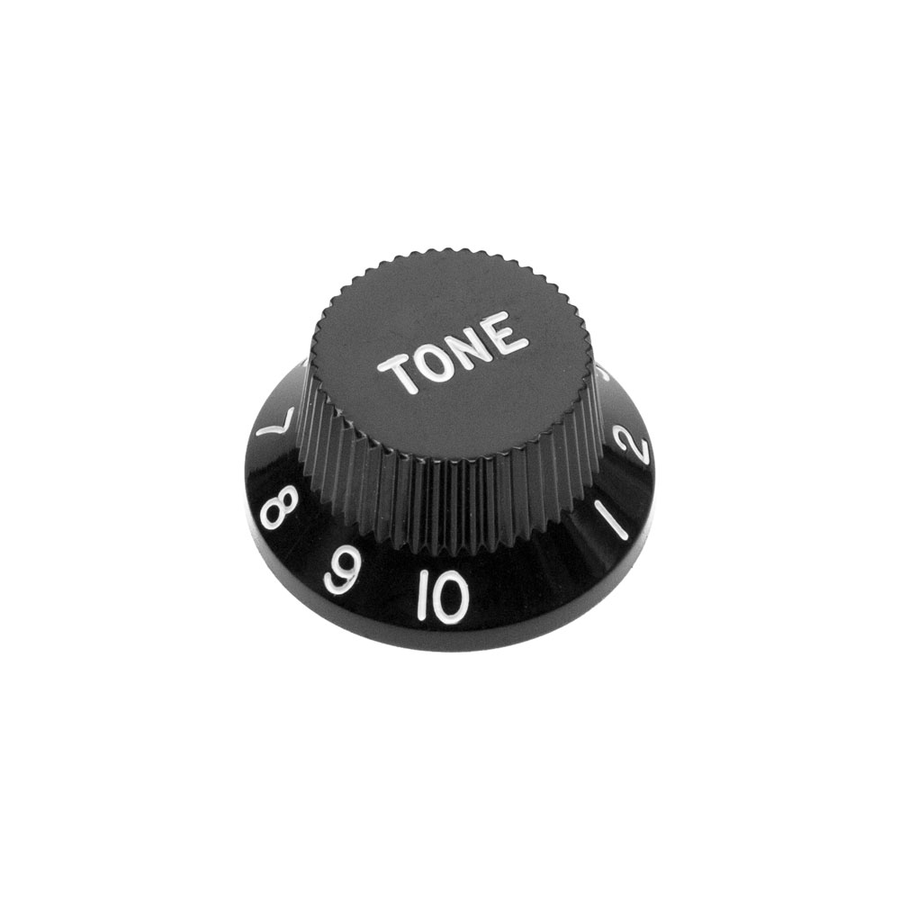 Hosco Tone Control Knob Fender Stratocaster Style (Black, Imperial (inch))