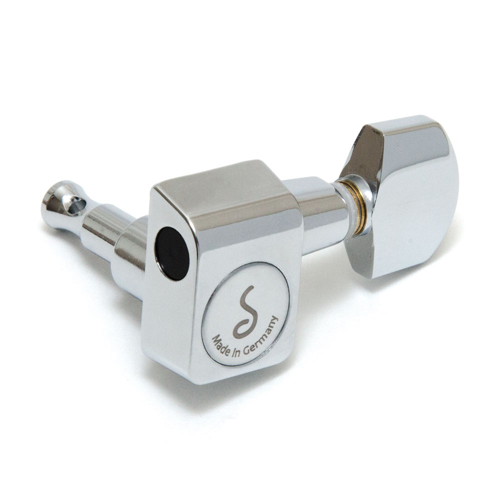 Schaller Original F-Series Tuners 6 In-Line Right Handed Pin Mount (Chrome, .01)
