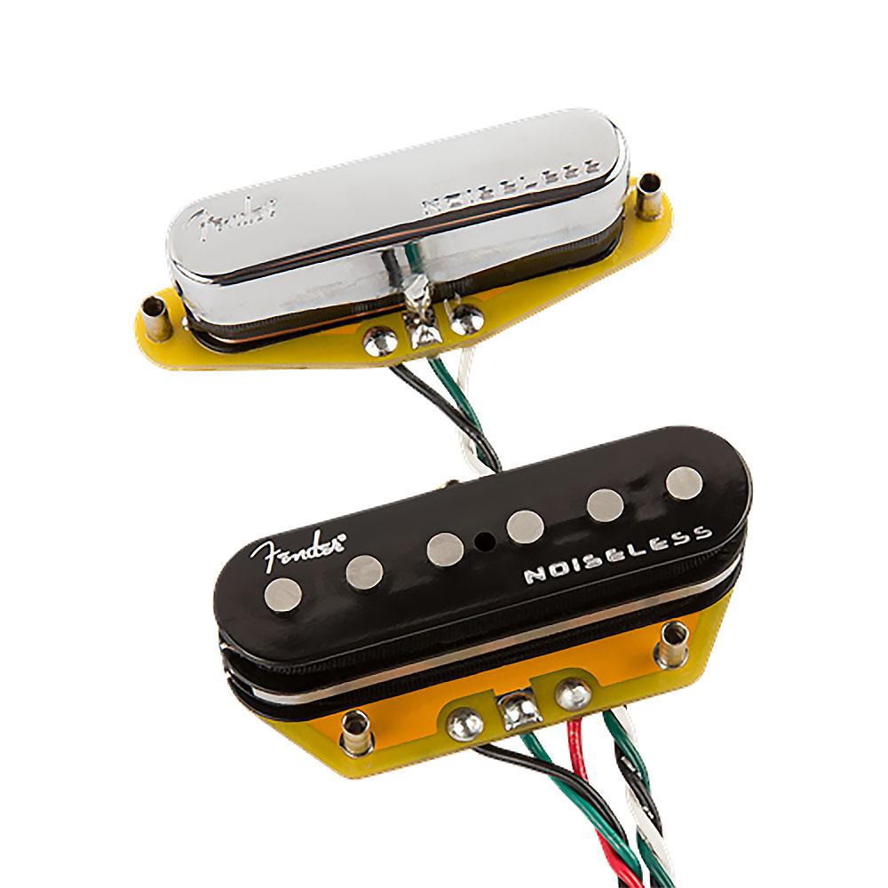 Fender Gen 4 Noiseless Tele/Telecaster Single Coil Pickups Set (Chrome)