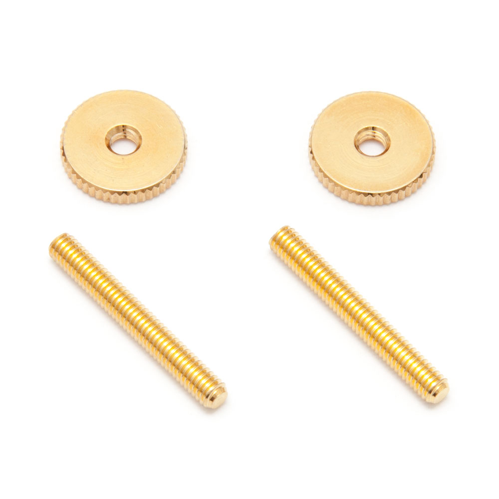 Faber Steel Tune-o-matic Posts and Thumbwheels (Gold, Metric (mm))