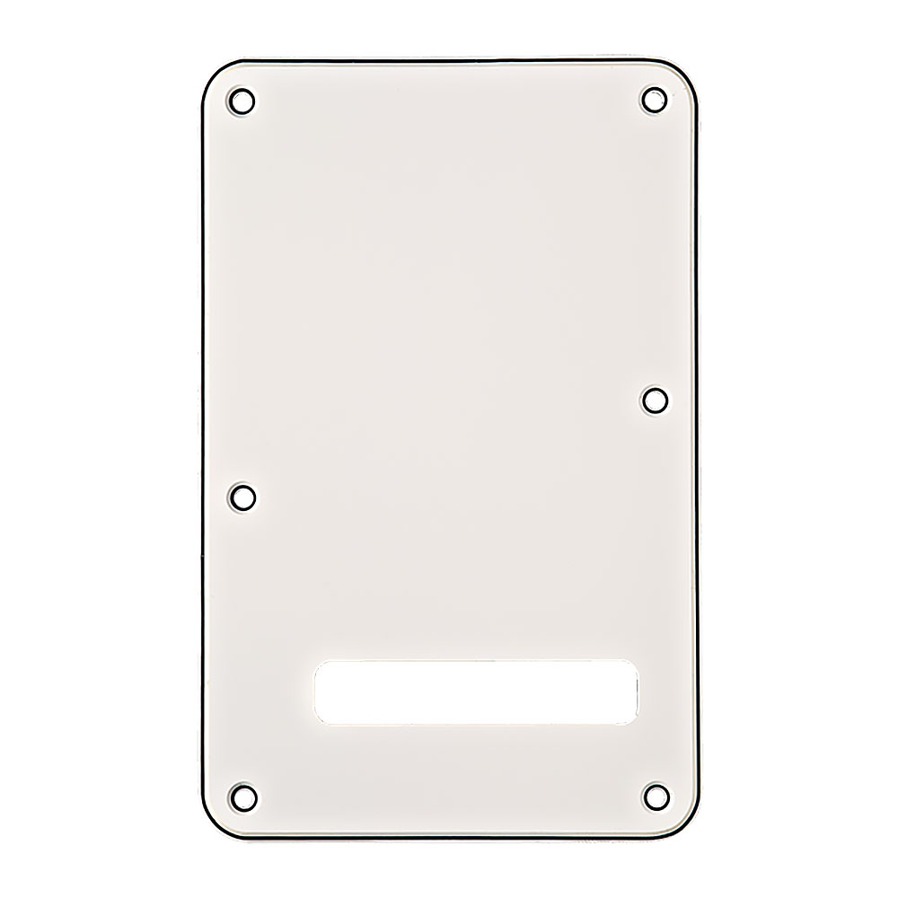 Fender Stratocaster Modern Style Tremolo Back Plate Cavity Cover (White)