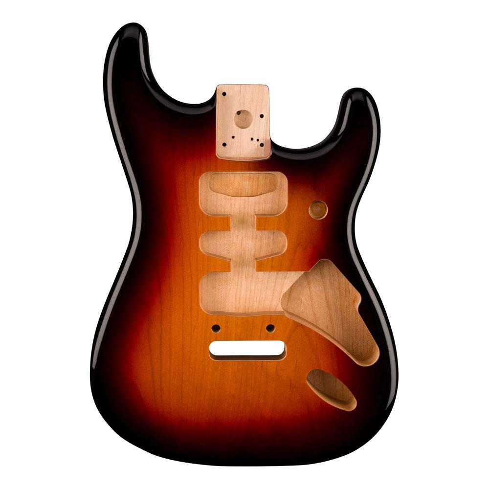 Fender Deluxe Series H/S/H Stratocaster Alder Body 2 Point Bridge Mount (3 Colour Sunburst)