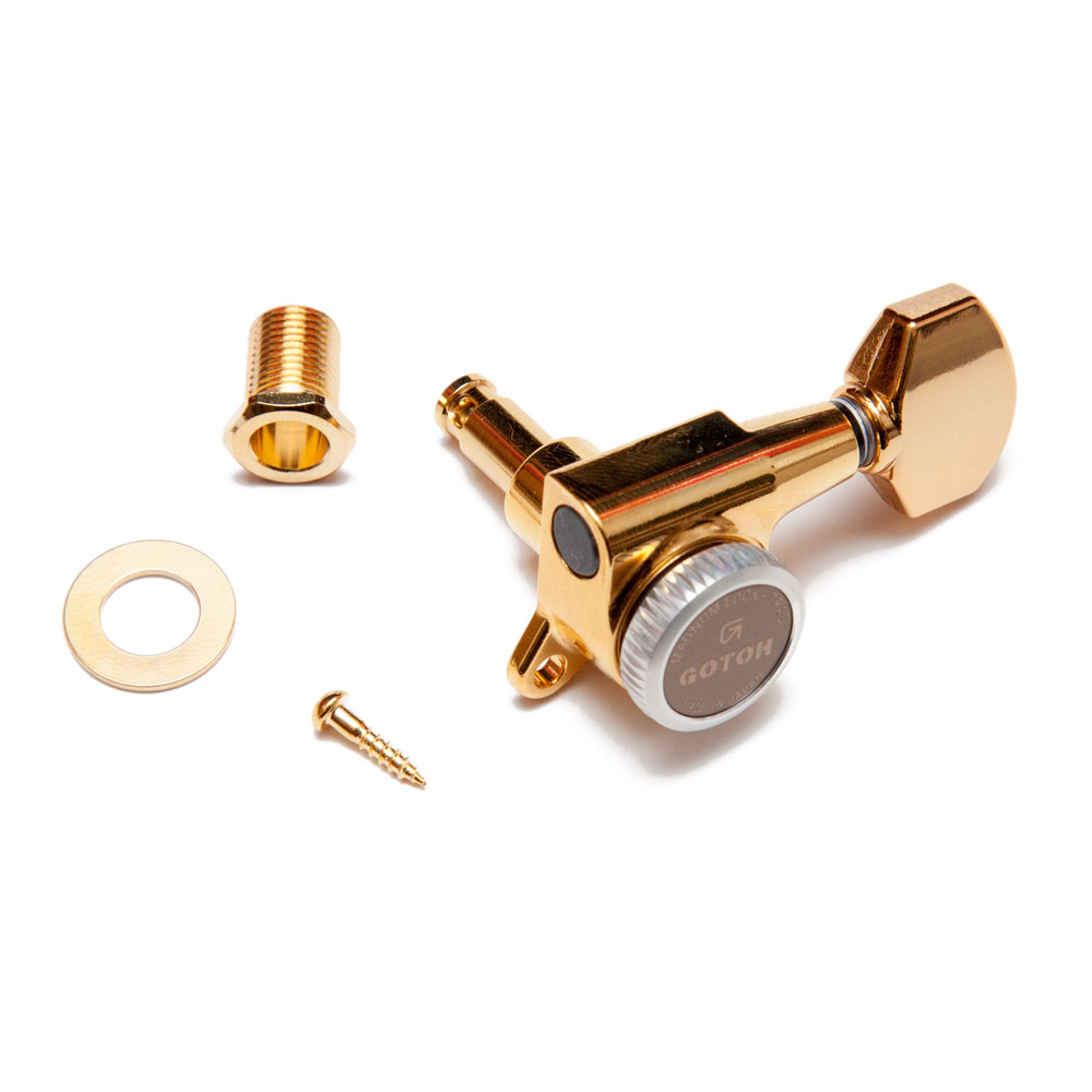 Gotoh SG381 Traditional Magnum Locking Tuners 6 In-Line Right Handed (Gold, 07)