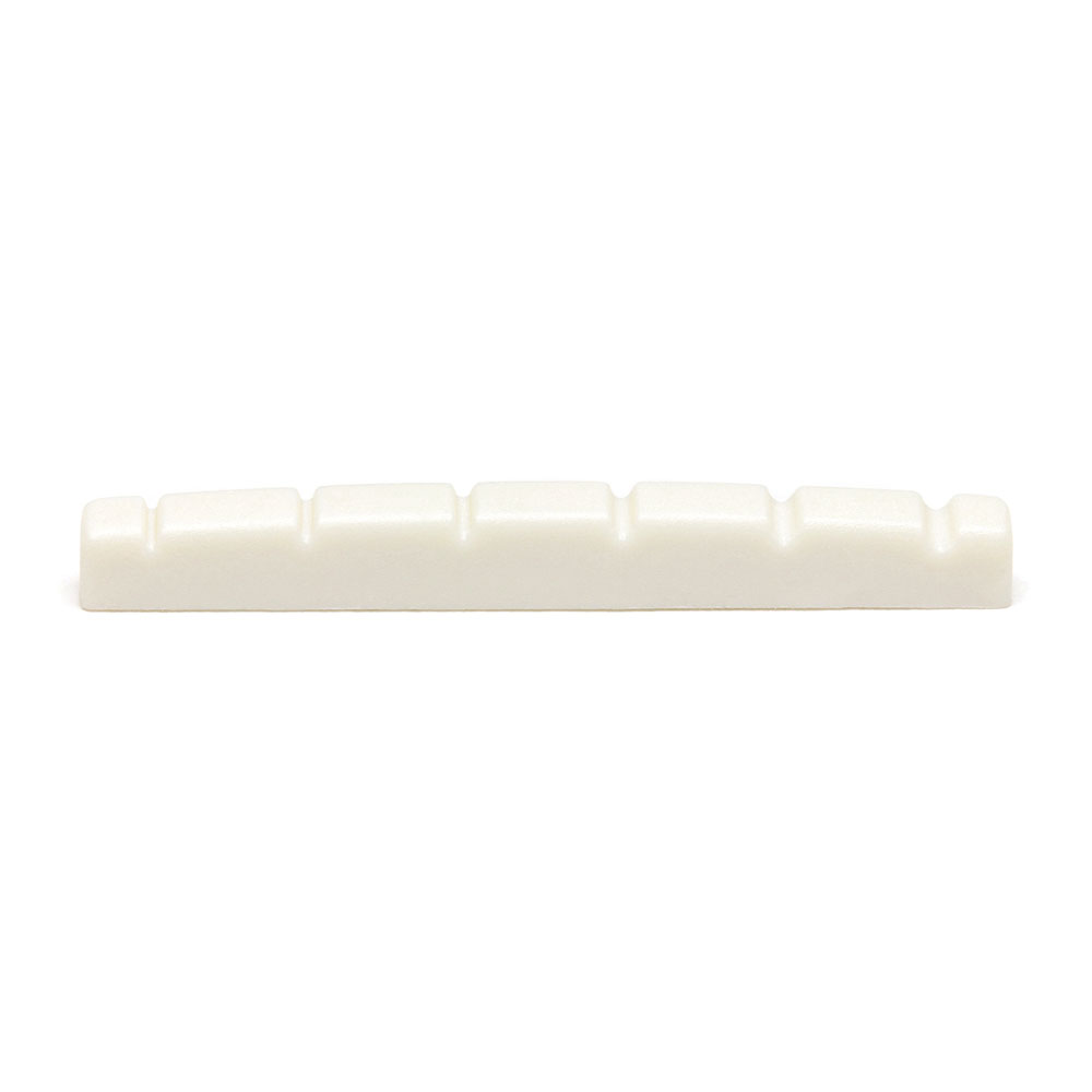 Graph Tech TUSQ Flat Bottom 42 mm Strat Slotted Nut (White)