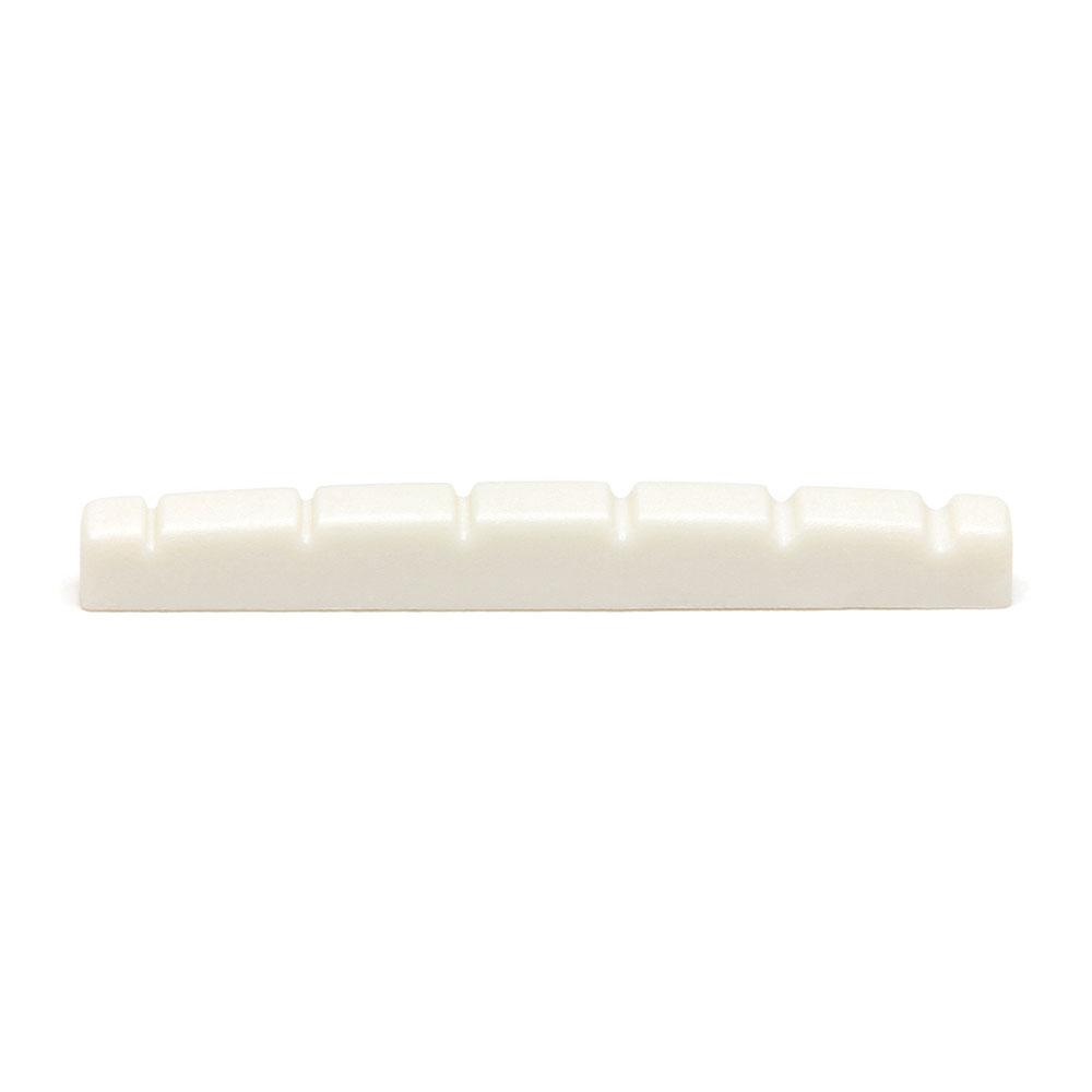 Graph Tech TUSQ Flat Bottom 42 mm Strat Slotted Nut (White)