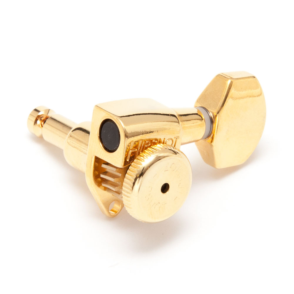 Hipshot Grip Lock Open Gear Locking Tuners 6 In-Line Right Handed (Gold, D07)