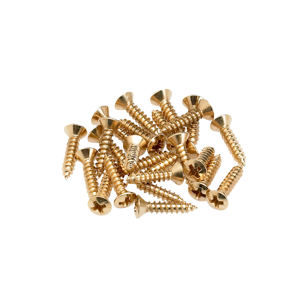 Fender Scratchplate/Cavity Cover/Control Plate Mounting Screws Pack of 24 (Gold)