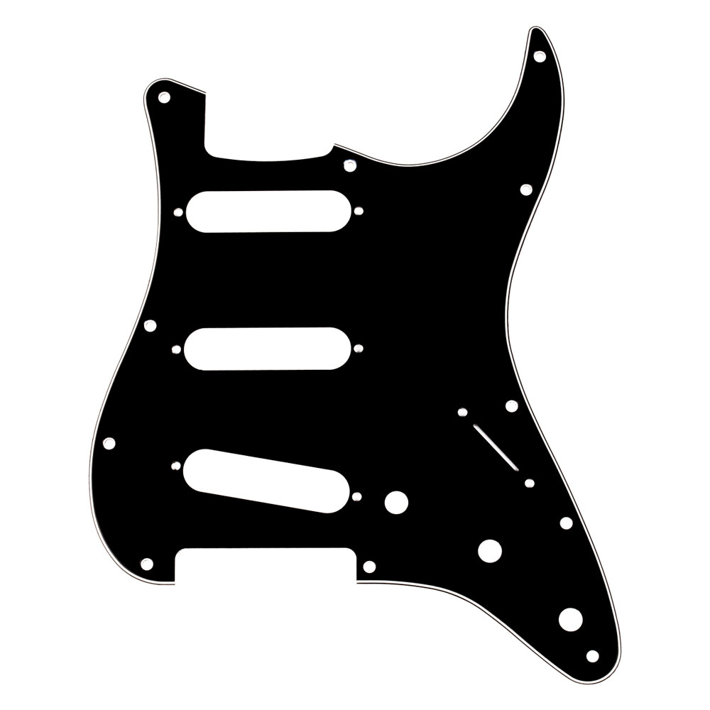Fender 3 Ply 11 Hole Stratocaster Scratchplate/Pickguard (Black)