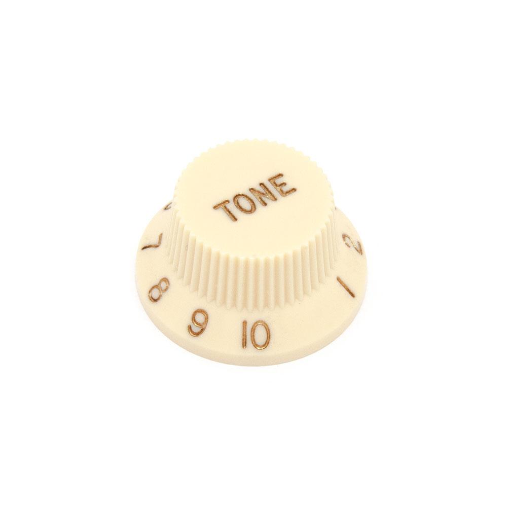 Hosco Tone Control Knob Fender Stratocaster Style (Cream, Imperial (inch))
