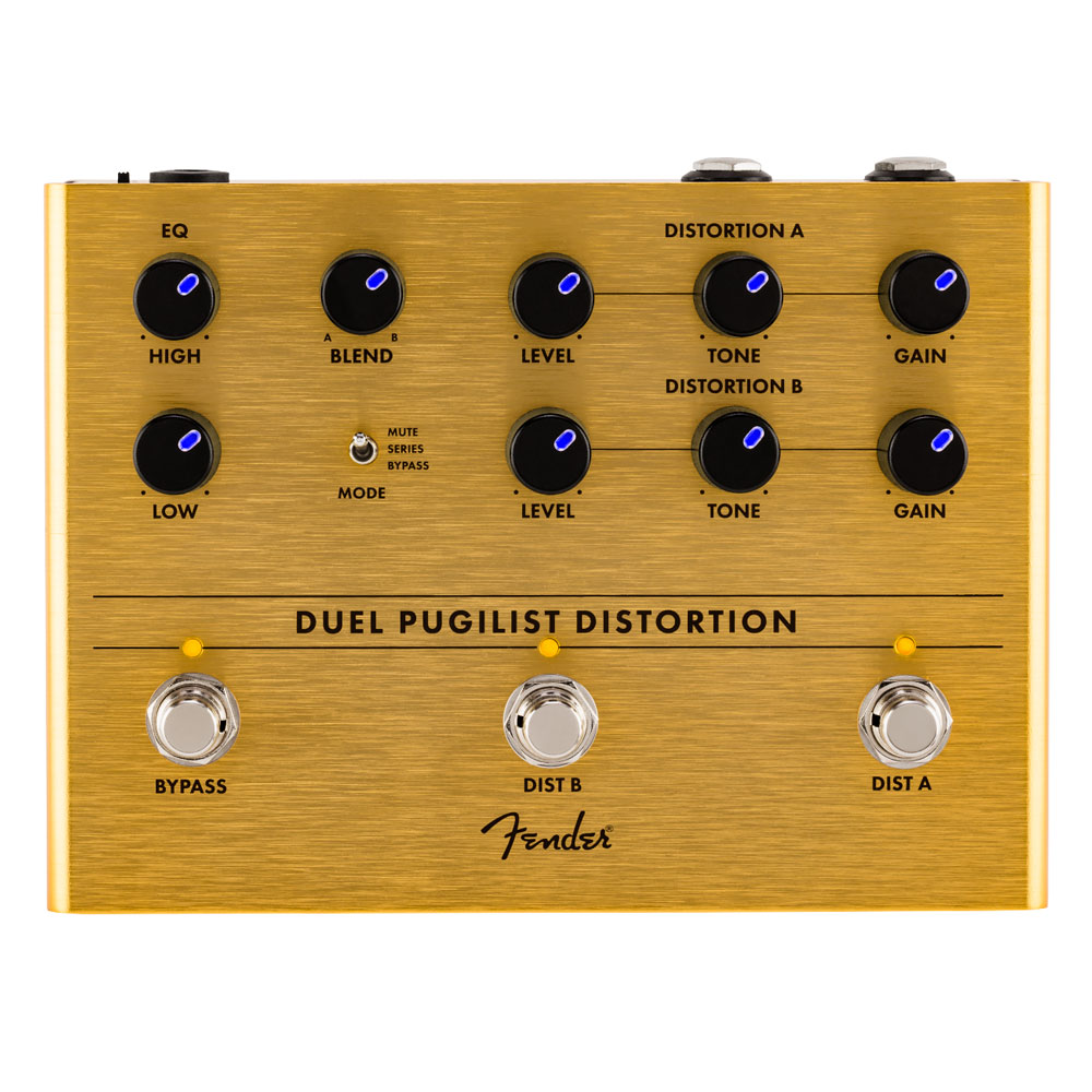Fender Duel Pugilist 2 Channel Distortion Pedal