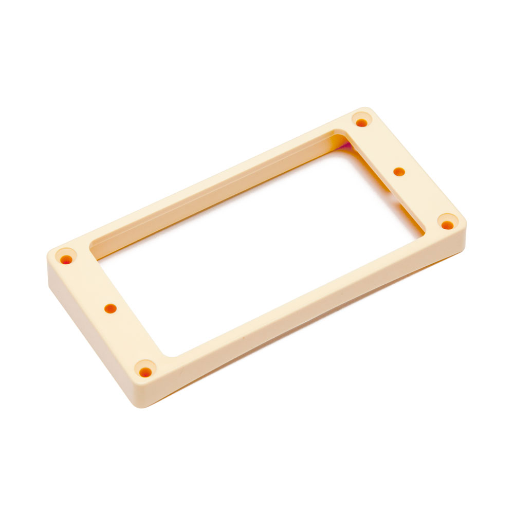 Hosco Pickup Mounting Rings Curved Bottom Flat Top (Ivory, Bridge)
