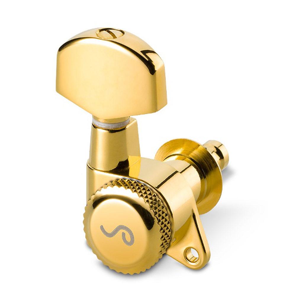 Schaller M6 Locking Tuners 3 x 3 135 Screw (Gold, .02)