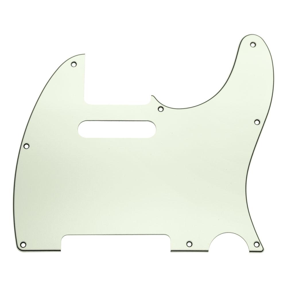 Hosco 3 Ply 8 Hole Telecaster Style Scratchplate/Pickguard (Mint)